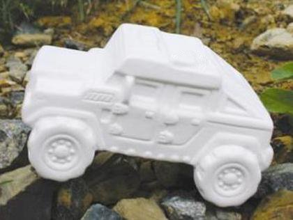 New Hampshire Craftworks Super Humvee Truck - Set of 4 - Host Your Own Ceramic Painting Party