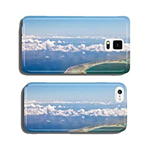 Polynesia. The atoll in ocean through clouds. Aerial view... cell phone cover case iPhone5