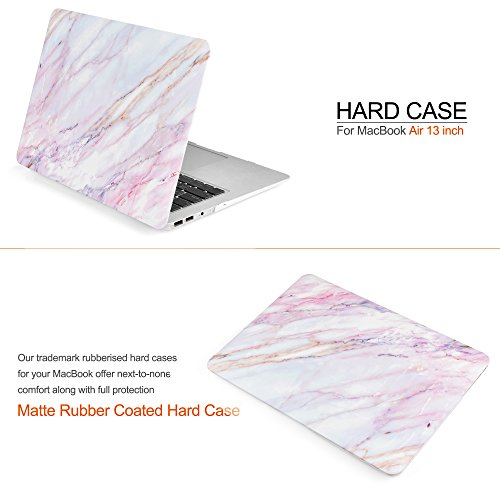 iDOO Soft Touch Hard Plastic Matte Case for MacBook Air 13 inch Model A1369 and A1466 - Pink Marble by iDOO (Image #2)