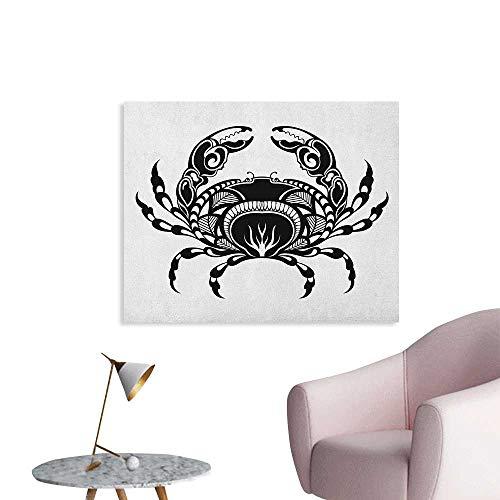 Anzhutwelve Crabs Wallpaper Artistic Design of an Aquatic Arthropod Marine Biology Underwater Wildlife Inspired The Office Poster Black White W36 xL32