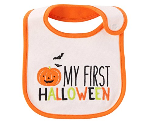 Carter's Just One You Neutral Baby Halloween Bib (White/Orange