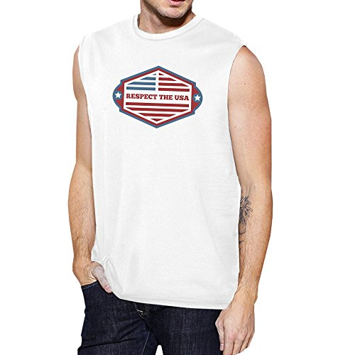 Unique Manche Homme Printing Sans Taille Respect Pull The Usa 365 4Y1TO
