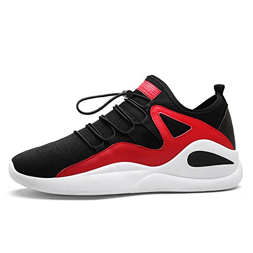Cjzhe Mens Casual Net Shoes Non Slip Breathable Sports Mens Shoes Outdoor Basketball Shoes  6 B  M  Us  Red