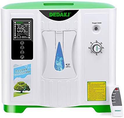 DEDAKJ Concentrador de oxígeno 2-9L/min Ajustable portátil máquina ...