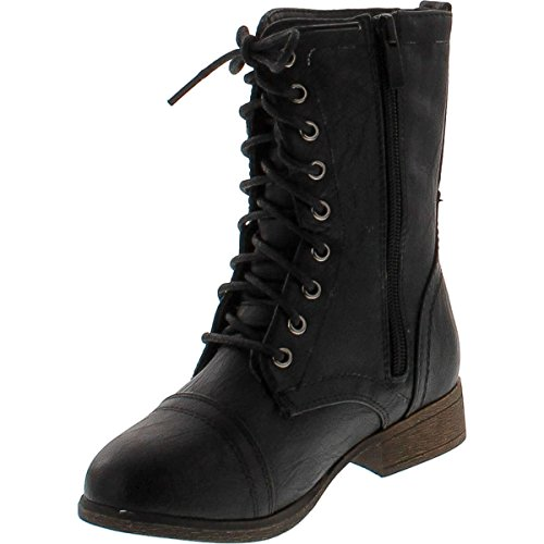 Link Beyonce-62K Girls Lace up Combat Boots