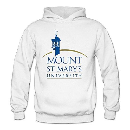 QK Mount St. Mary's University MSM Women's Fashion Pullover Hood White L