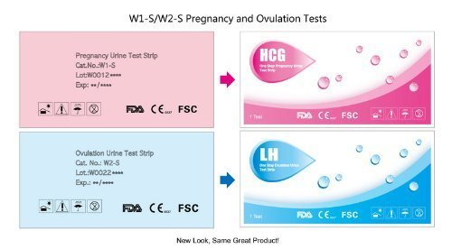pack Combo 40 (LH) Les tests d'ovulation et 10 (HCG) Les tests de grossesse