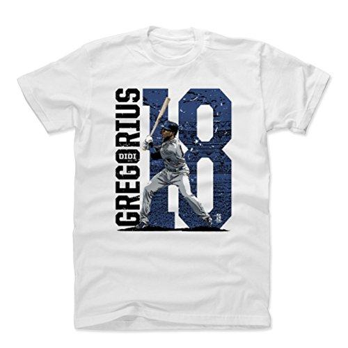 Didi Gregorius Cotton Shirt Small White - New York Baseball Men's Apparel - Didi Gregorius Stadium B