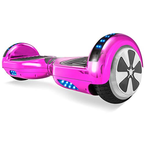 - XtremepowerUS Self Balancing Scooter Hoverboard UL2272 Certified, Bluetooth Speaker and LED Light (Classic Pink)
