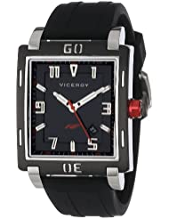 Viceroy Men's 47721-55 Falonso Black and Red Interchangeable Rubber Band Chronograph Day Date Watch