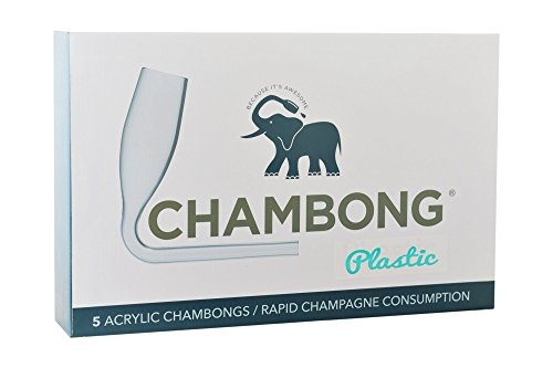 Chambong - Plastic, Acrylic Champagne Shooters, 6 oz. - Perfect for Outdoor Parties (5 Pack)
