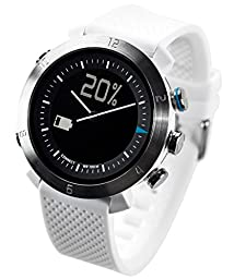 COGITO Classic Smart Bluetooth Connected Watch for Smartphones - Retail Packaging - White Alpine