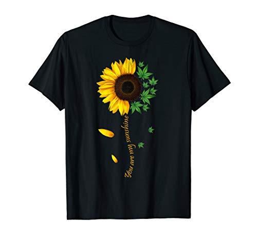 Weed Sunflower Shirt Women Marijuana 420
