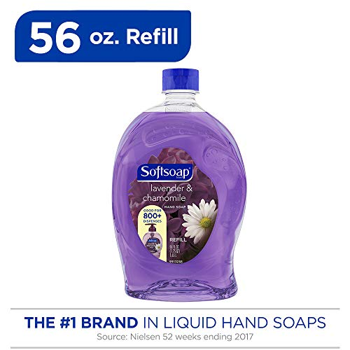 Softsoap Liquid Hand Soap Refill, Lavender and Chamomile, 56 Ounce - Hydrating Softsoap Body Wash