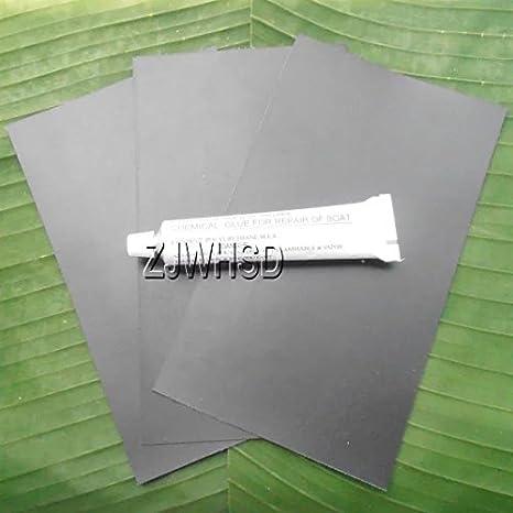 3pcs 12 x 20 cm negro PVC parche + pegamento para kayak y ...