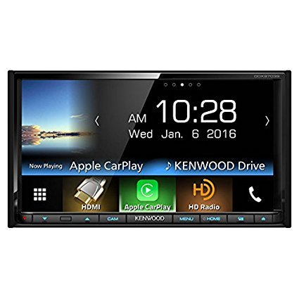 "Kenwood DDX9703S 2-DIN In-Dash DVD/CD/AM/FM Car Stereo w/ 6.95"" Touch Screen with Built-in HD Radio, Apple Carplay and Android Auto"