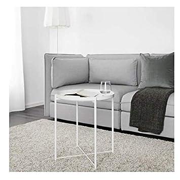 Ikea Mesa/Bandeja Gladom Redonda Blanca
