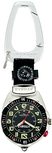 Dakota Watch Company Easy To Read Flashlight Clip Watch