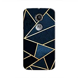 Cover It Up - Dark Blue Fractures Moto X2 Hard Case