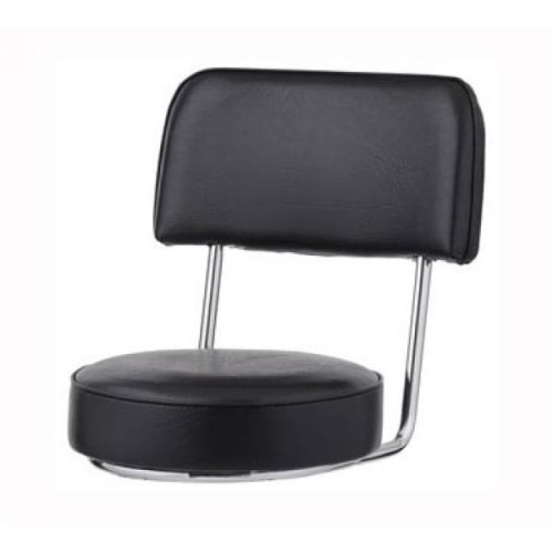 Bar Stool Replacement Seat, Black Open Back W/ Chrome Frame, (ROY 7715 S BLK) Royal Industries