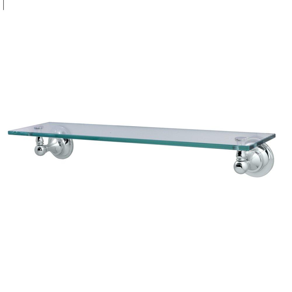 Gatco 4326 Tiara Glass Shelf, Chrome - Mounted Bathroom Shelves ...
