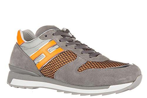 Hogan Rebel Scarpe Sneakers Uomo in Pelle Nuove r261 Grigio