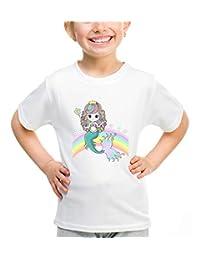 Waldeal Little Girl Cute Mermaid Princess T-Shirt, Magical Rainbow Graphic Tees