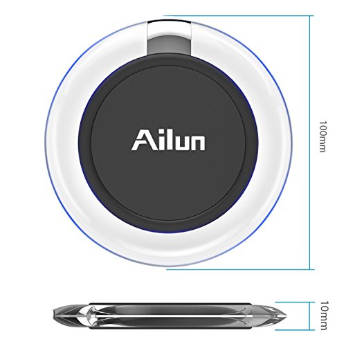 Wireless charger,by Ailun,Ultra-Slim&Protable,Slip-Proof Pad,Universal for All Qi-Enabled Devices,Galaxy S7/S7 Edge,S6/S6 Edge/S6 Active,Note 5,Nexus 7/6/5/4[Crystal Clear] by AILUN (Image #2)