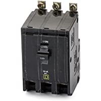 QOB3100 SQUARE D Circuit Breaker (QOB) Standard, 100A, 3-Pole, 240 Vac, 3-Phase, Bolt-On by Square D