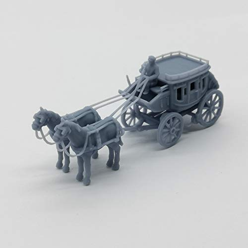 Outland Models Railway Scenery Vehicle Old West Carriage/Wagon - Luxury Wagon 1:87 HO Scale