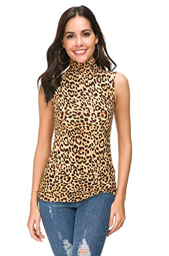 Womens Long Sleeve/Half Sleeve/Sleeveless Mock Turtleneck Crew Stretch Slim T Shirt Layer Top