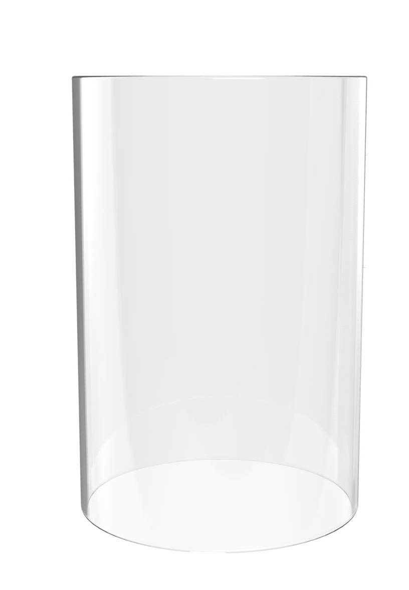 Globe- Lamp Shades Replacement Open End-10''High 3.2'' Wide- Suitable for MOST POPULAR CANDLES - Clear Candle Holders-