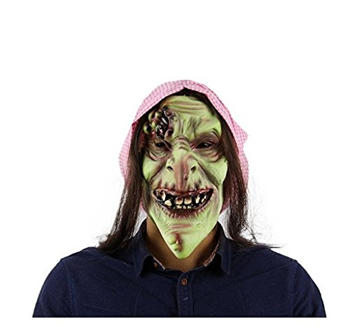 Scary Halloween Witches (Scary Evil Old Witch Mask,Halloween Witch Mask Old Hag Snow Horror Witch Mask Halloween Costume Latex Full Mask Adult Size)