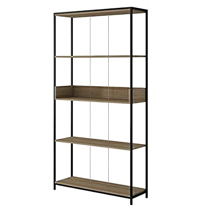 Amazon Com Mik Steel Frame Bookcase Bookcase With 6
