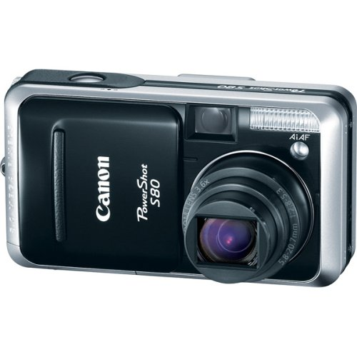 Canon Powershot S80 8MP Digital Camera with 3.6x Wide Angle Optical -