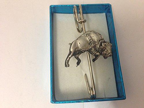 Buffalo bondissant Kilt E39écharpe ou Broche en étain emblème 7,6cm 7,5cm