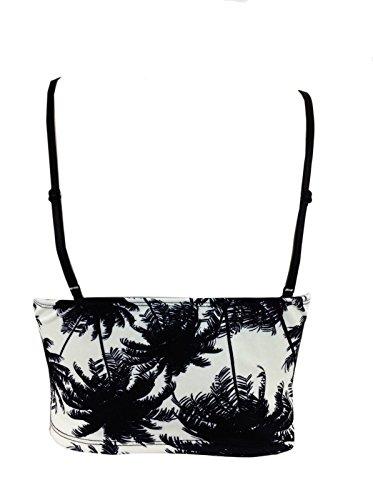 Gems - Falda - para mujer Palm Tree Bra Let Top
