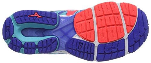 Mizuno Wave Sayonara 4 - Zapatillas de running mujer Turquesa (Capri/Fiery Coral/Dazzling Blue)