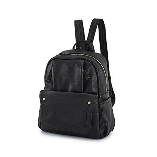 GUO - 2017 nuova versione coreana di borse di moda femminile di moda femminile del sacchetto di spalla di modo dell'unità di elaborazione (27 * 13 * 32CM) (nero)