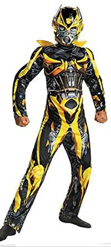 Transformers Bumblebee/Stinger Reversible Muscle Costume Boys Size Large 10-12 (Transformers: Age Of Extinction Stinger Muscle Child Costume)