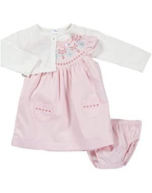Baby-girls Cardigan Dress Set