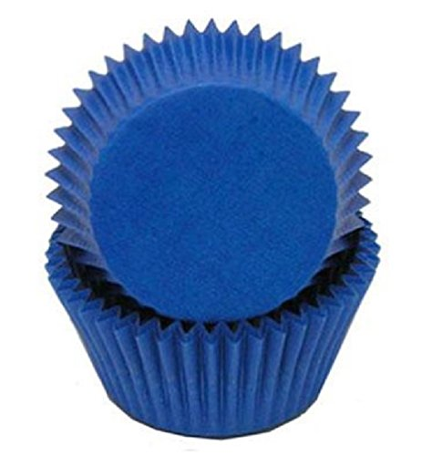 Royal Blue Cupcake Liners (Golda's Kitchen 100 Count Solid Baking Cups, Standard Sized,)