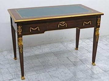Bureau baroque bureau de style antique plat skai mksr noir