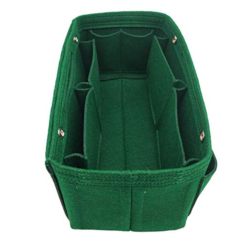 Wool Handbag Purse - LEXSION Felt Fabric Purse Handbag Organizer Bag - MultiPocket Insert Bag 8008 Green L