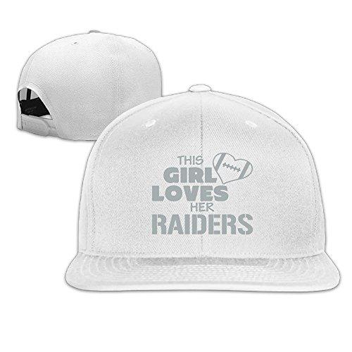 [ElishaJ Snapback This Girl Loves Oakland Football Trucker Hats White] (Mens Dallas Cowboy Football Costumes)