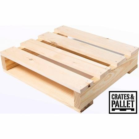 Crates and Pallet - Quarter Pallet New Wood - 23in x 20in x 5in (1)