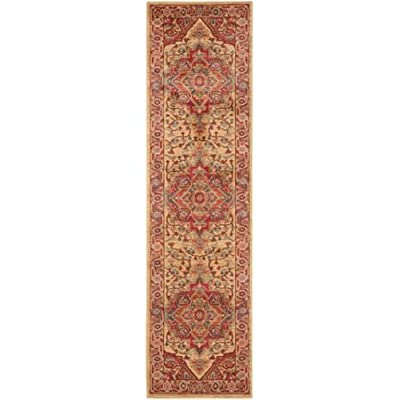 Safavieh Mahal Collection MAH698A Traditional Oriental Red and Natural Area Rug