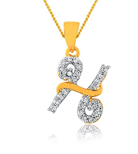 28eed2dde7e Buy Gorgeous Gold Plated Alphabet  H  Letter Pendant Locket With Chain For  Men And Women Boys   Girls Online at Low Prices in India