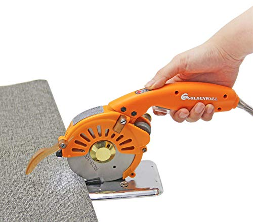 Handheld Electric Fabric Cutting Tool Machine Direct Drive Servo Carpet Knife Cutting Machine Round Cloth Scissors Leather Shears Speed Adjustable I LED Light 110V-240V (Cutting Range:≤ 27mm)