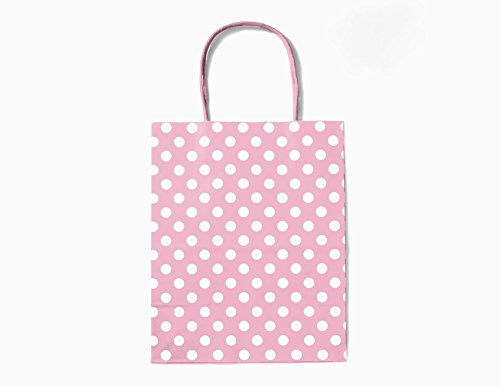 12CT MEDIUM LIGHT PINK POLKA DOT BIODEGRADABLE, FOOD